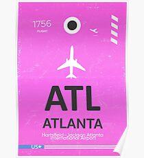 Atlanta airport code Poster