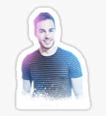Chris Wood Neon Sticker (& other products) Sticker