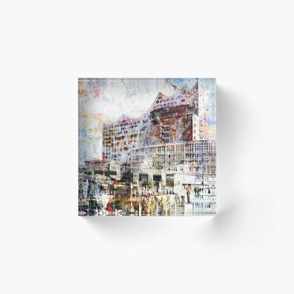Hamburg - Elphi - Harbor Acrylic Block