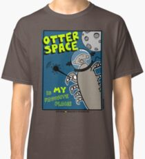 Octo Otter Space Comic Robot Super Hero Design Classic T-Shirt
