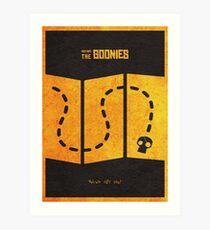 Das minimalistische alternative Filmplakat Goonies Kunstdruck