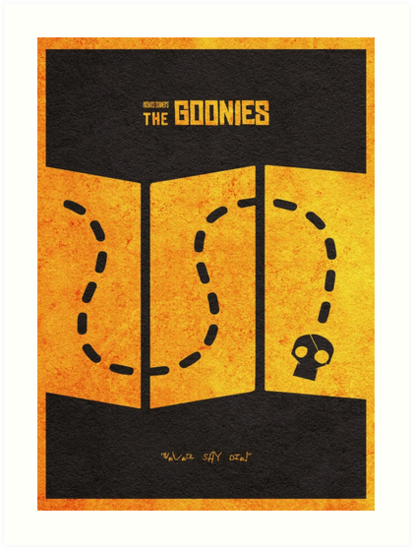 The Goonies Minimalist Alternative Movie Poster by geekmywall