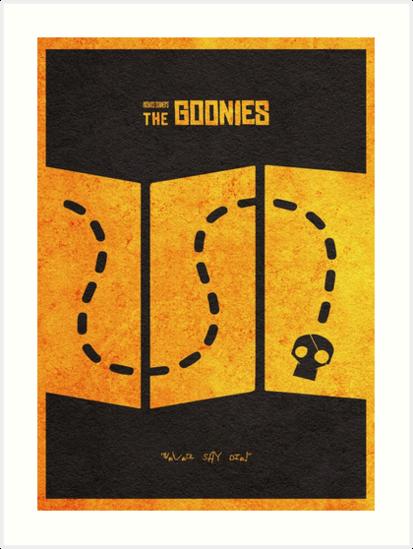 The Goonies Minimalist Alternative Movie Poster by A Deniz Akerman