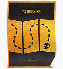 Das minimalistische alternative Filmplakat Goonies Poster