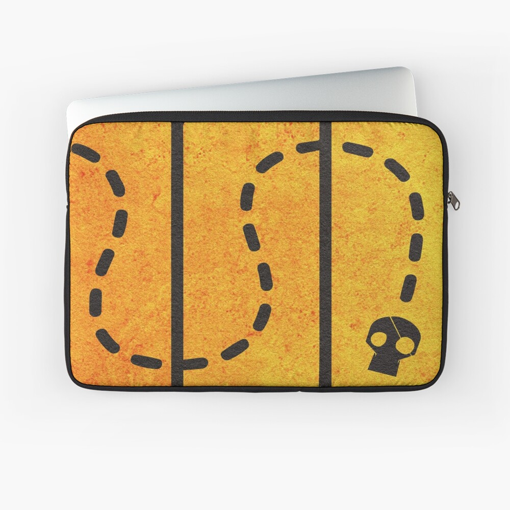 Das minimalistische alternative Filmplakat Goonies Laptoptasche