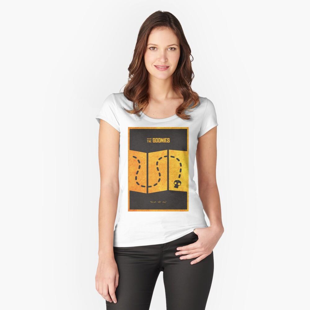 Das minimalistische alternative Filmplakat Goonies Tailliertes Rundhals-Shirt