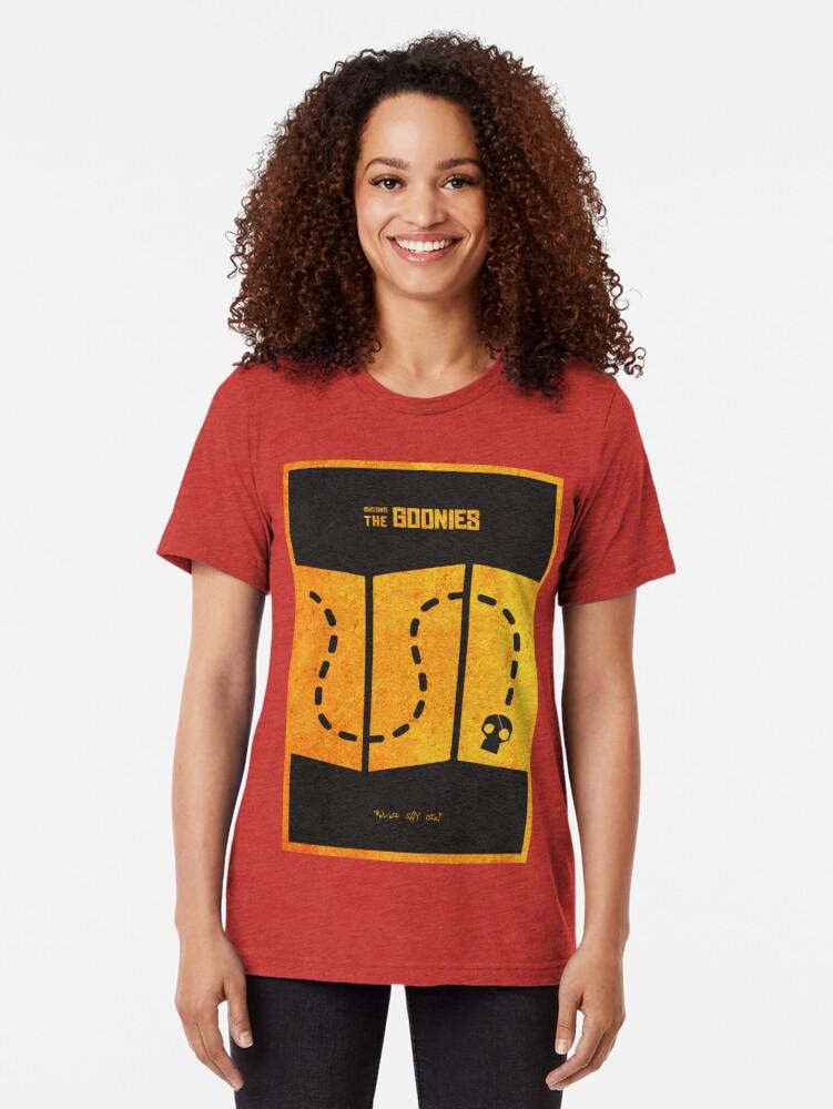 Alternative Ansicht von Das minimalistische alternative Filmplakat Goonies Vintage T-Shirt