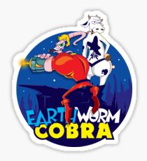 Earth Worm Cobra Sticker
