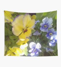 Violas (Yellow and Purple) Wall Tapestry