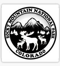 Rocky Mountain National Park Colorado moose design Sticker