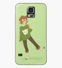 Pidge - Katzen Pullover (Green BG) Hülle & Klebefolie für Samsung Galaxy