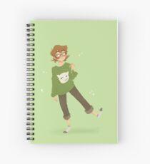 Pidge - Cat Sweater (Green BG) Spiral Notebook