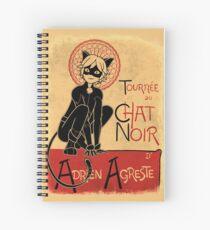 Tournee du Chat Noir Spiral Notebook