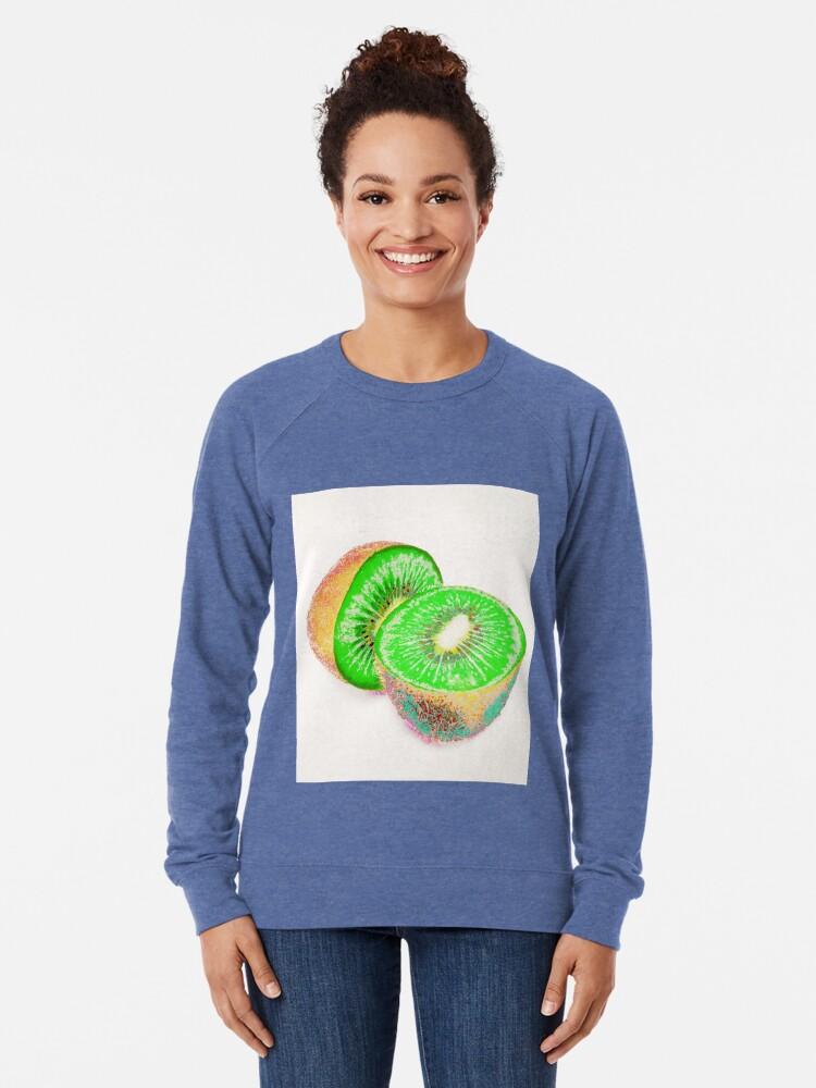 Alternate view of Kiwilicious - Fruit Lover Gift Lightweight Sweatshirt