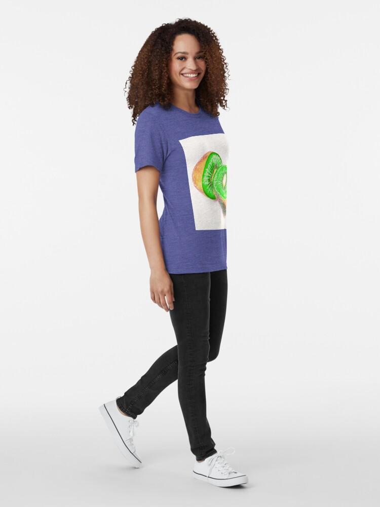 Alternate view of Kiwilicious - Fruit Lover Gift Tri-blend T-Shirt