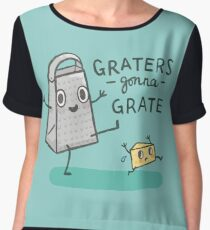Graters gonna Grate Women's Chiffon Top