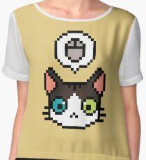 Pixel cat Women's Chiffon Top