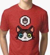 Pixel cat Tri-blend T-Shirt