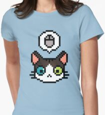 Pixel cat Womens Fitted T-Shirt