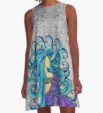 2017 Blue Mermaid  A-Line Dress
