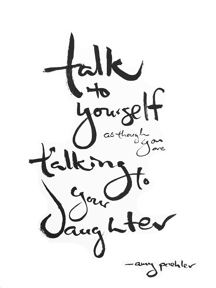 + Self-talk via Amy Poehler by ZenRecoveryORG
