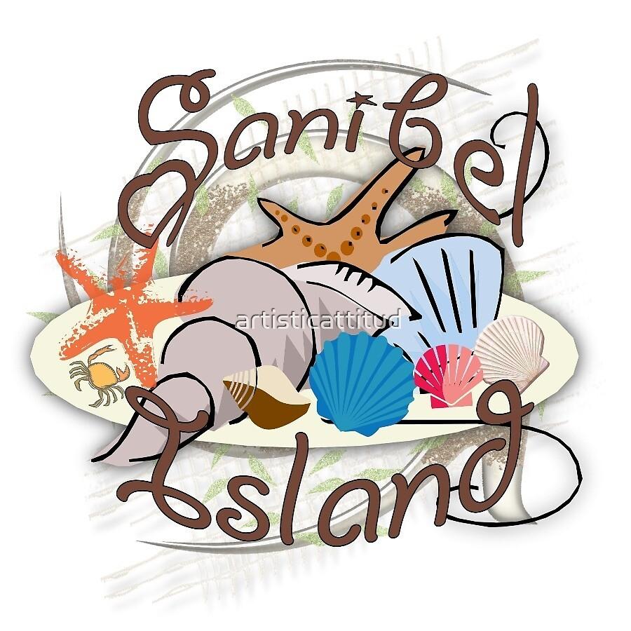 Sanibel Island Florida seashell design by artisticattitud