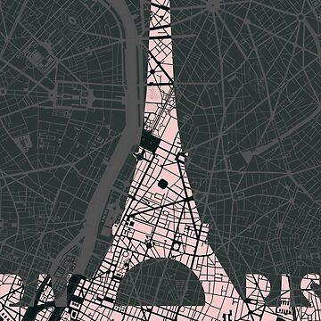 Eiffel tower Paris skyline by PlanosUrbanos