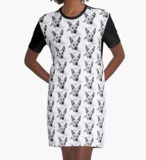 Carolina Gray Pup Graphic T-Shirt Dress