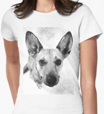 Carolina Gray Pup Women's Fitted T-Shirt