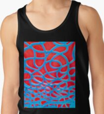 Red and Turquoise Maze Tank Top