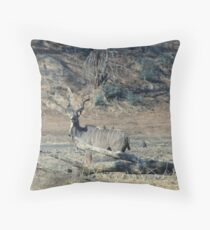 Kudu and Oxpecker Throw Pillow