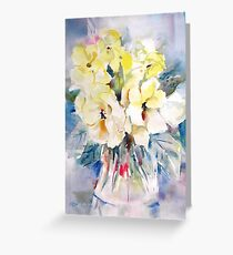 Flowers - Yellow Wild Roses Painting - Art Prints Cards Clothes & Gifts Greeting Card