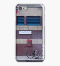 Bikes outside Borough tube station iPhone Case/Skin