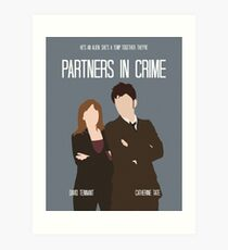 Partners in Crime retro print Art Print