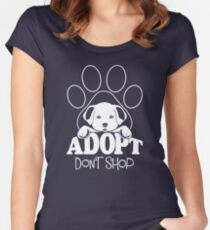 Dogs Adopt Don't Shop Women's Fitted Scoop T-Shirt