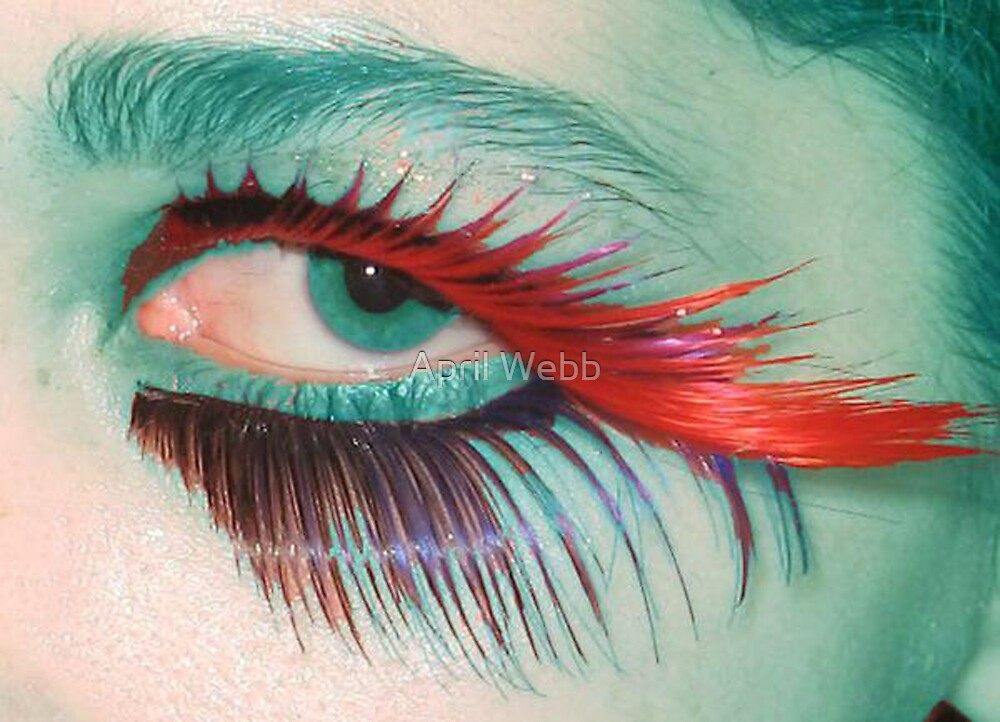 Blue Eye with lots of Lashes by April Webb