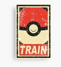 Pokemon train Canvas Print