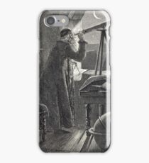 Copernicus observing the night sky with a telescope iPhone Case/Skin