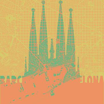 Sagrada Familia, Barcelona by PlanosUrbanos
