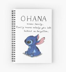 Ohana Means Family Spiral Notebook