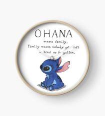 Ohana Means Family Clock