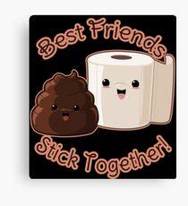 Kawaii Poop and TP Friends Canvas Print