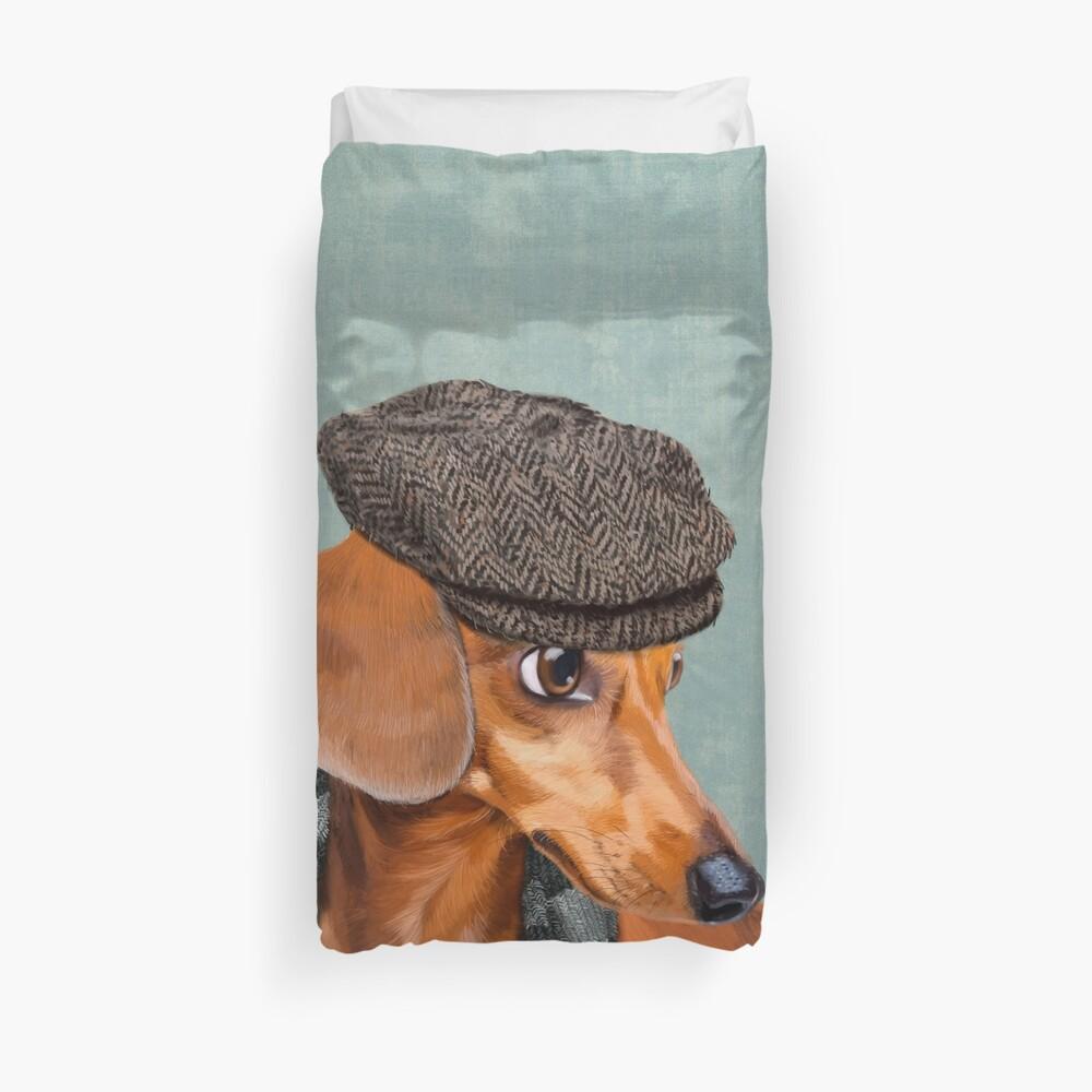 Elegant Mr. Dachshund Duvet Cover