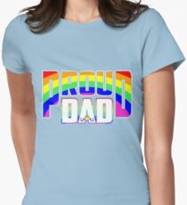 Cool Proud Dad LGBT Pride Womens Fitted T-Shirt