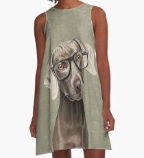 Mr Weimaraner A-Line Dress