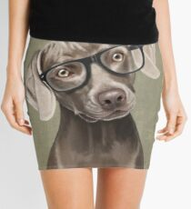Mr Weimaraner Mini Skirt
