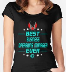 business opearions manager - solve and travel design Women's Fitted Scoop T-Shirt