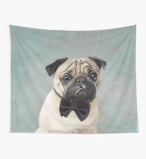 Mr Pug Wall Tapestry