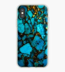 Turquoise gemstone close up iPhone Case