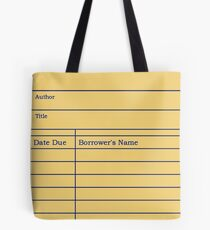Library Due Date Slip Tote Bag